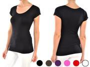 Women's Workout Top - Cute Yoga Tees for Fitness Activewear (5 Pack, Various Colors)
