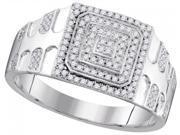 10K White Gold 0.33 Ctw Diamond Micro Pave Ring