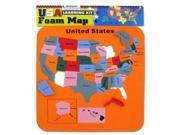 USA Foam Map Set - Set of 48 (Toys Educational Toys) - Wholesale 9SIA4GM36X5769