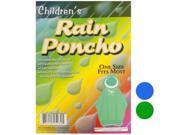 Children s Hooded Rain Poncho Set of 48 Apparel Rain Gear Wholesale