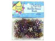 Sparkle button flower beads pack of 60 Set of 144 Crafts Beads Wholesale