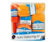 Microfiber Car Wash Detailing Kit - Set of 4 (Automotive Supplies Auto Care Maintenance) - Wholesale