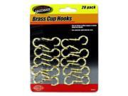 123-Wholesale: Set of 12 Brass Cup Hooks (Household Supplies, Hooks & Hook Racks) 9SIA4GM5H37634
