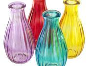123-Wholesale: Set of 24 Ribbed Colored Glass Bottle Vase (Home Decor, Vases) 9SIA4GM5H35925