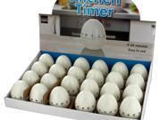 123-Wholesale: Set of 24 Egg Shape Kitchen Timer Countertop Display (Kitchen & Dining, Kitchen Tools & Utensils)