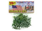 123-Wholesale: Set of 24 Plastic Soldiers Play Set (Toys, Action Figures) 9SIA4GM5HR1803