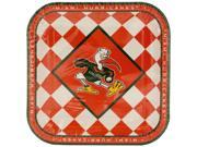 123-Wholesale: Set of 72 Miami Hurricanes Lunch Plates Set (Sports Licensed Products, Sports Licensed Products) 9SIA4GM5HM7121