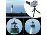 10x Zoom Telescope Camera Lens with Mini Tripod Case for Smart phone/ iPhone5 4S
