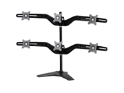 """Image of Hex Monitor Stand by Amer Networks. Supports up to six 24"""" Monitors with VESA standard 100x100 and 75x75."""