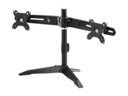 """Dual Monitor Stand by Amer Networks. Supports two 24"""" monitors weighing up to 26.5 lbs each. VESA compatable"""