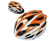 SunGET Outdoor Sports BMX MTB Road Bicycle Cycling Helmet Safety Adult Man Bike Helmet with Visor, Orange