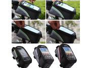 4.8inch Blue Waterproof Cycling Sport Bike Accessories Bicycle Frame Pannier Front Tube Bag For Cell Phone