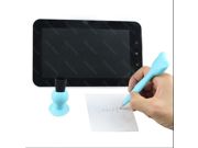 IMAGE? capacitive touch stylus pen custom pens for iphone tablet 3 in 1 (clean + writing + stand) (BLUE)
