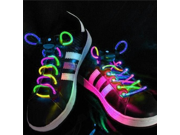 IMAGE® In Pair LED Light Up Waterproof Shoelaces - 3 Modes (On, Strobe & lashing), 2 Feet Long, Battery Powered[Multi-Color]