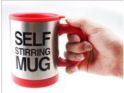 IMAGE® Automatic coffee mixing cup/mug bluw stainless steel self stirring electic coffee mug 350ml 340g/pc[Red Color!] 9SIA4HA1XG3956