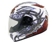 2013 Scorpion EXO-R410 Slinger Motorcycle Helmets - White/Red - Medium