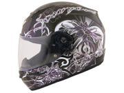 2013 Scorpion EXO-R410 Orchid Motorcycle Helmets - Black - X-Small