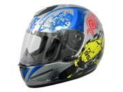2014 AFX FX-95 Stunt Motorcycle Helmets - Blue - Small 9SIA1452T11605
