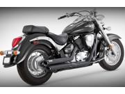 Vance & Hines Twin Slash Staggered Exhaust System - Black Street Black  48397 48397 9SIAAHB40V5428