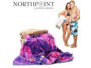 "Northpoint 100% Cotton Plush Velour Miramar Beach Towel - 34"" x 63"" -  2 Pack"