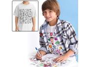 Image of Colorable Disney Toy Story Youth Color in T-Shirt - Small