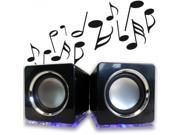 Tech Universe®? Cube Multimedia USB Speakers with Cool Blue LED Light