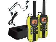 UNIDEN GMR4060-2CKHS 40-Mile 2-Way FRS/GMRS Radios with Headset (Yellow&#59; Li-Ion Batteries)