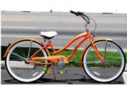"Micargi Rover NX3 3 Speed, Orange - Women's 26"""" Cruiser Bike"" 9SIA4M769Y4829"