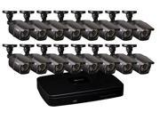 ANALOG 16 CHANNEL SECURITY SYSTEM WITH 16 960H/900 TVL BULLET CAMERAS QC5416-16E
