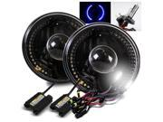 Modifystreet® 6000K H4-2 HID + Blue LED Ring H6014/H6015/H6017/H6052/H6024 7