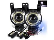 8000K Xenon HID/For 02-06 GMC Sierra Denali SMD Halo Projector Fog Lights Lamps