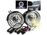 4300K HID Kit/For 2007-2009 Jeep Compass/Patriot SMD Halo Ring Fog Lights Lamps