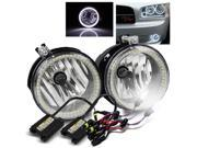 6000K HID Kit For 06 09 Charger 07 09 Caliber SMD Halo Ring Fog Lights Lamps