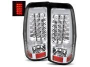 For 03-06 Silverado 1500/2500/05-07 Hybrid Chrome LED Tail Lights Brake Lamps