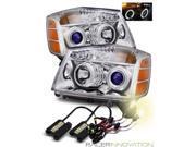 4300K HID/For 04-07 Nissan Armada/Titan CCFL Halo Projector Headlights Chrome