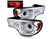 For 13-16 Scion FRS/Toyota 86 Chrome Fiber Optic LED Tail Lights Rear Brake Lamp