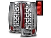 For 07-12 Suburban/Tahoe/GMC Yukon/Denali Chrome Clear LED Tail Light Brake Lamp