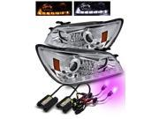 12000K HID/For 01-05 Lexus IS300 Chrome DRL LED Strip Projector Headlights Lamps