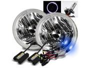 Modifystreet® 10000K H4-2 HID + White LED Halo H6014/H6015/H6017/H6052/H6024 7