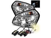 4300K HID/For 05-08 Tucson Chrome Halo/LED Eyelids Projector Headlights Lamps