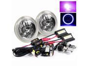 Modifystreet® 12000K H4-3 Bi-Xenon Hi/Low HID + Hi-Power Blue LED 3D-Halo Tube H6014/H6015/H6017/H6052/H6024 7