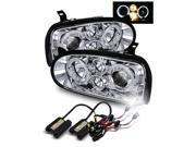 6000K HID/For 93-98 VW Golf MK3/95-98 Cabrio Chrome Halo Projector Headlights