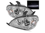 For 98-01 Mercedes Benz W163 ML320/ML430 Chrome DRL LED Projector Headlights