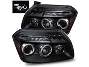 For 05-07 Dodge Magnum Black Halo/LED Eyelids Projector Headlights Lamps