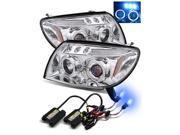 10000K HID/For 03-05 Toyota 4Runner Chrome Halo/LED eyelids Projector Headlights