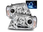 For 04-08 Ford F150/06-08 Lincoln Mark LT LED/Halo Projector Headlights Chrome