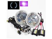 Modifystreet® 12000K H4-3 Bi-Xenon Hi/Low HID + White LED Ring H6014/H6015/H6017/H6052/H6024 7