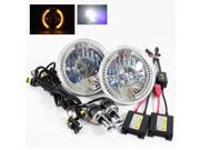 Modifystreet® 6000K H4-3 Bi-Xenon Hi/Low HID + Yellow LED Ring H6014/H6015/H6017/H6052/H6024 7