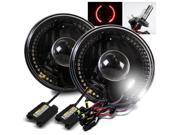 Modifystreet® 6000K H4-2 HID + Red LED Ring H6014/H6015/H6017/H6052/H6024 7