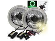 Modifystreet® 4300K H4-2 HID + Hi-Power Green LED 3D-Halo Tube H6014/H6015/H6017/H6052/H6024 7